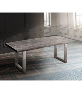 Jídelní Stůl Live 180x90 cm Akácie Platina Deska 5.5 cm Nohy Široké