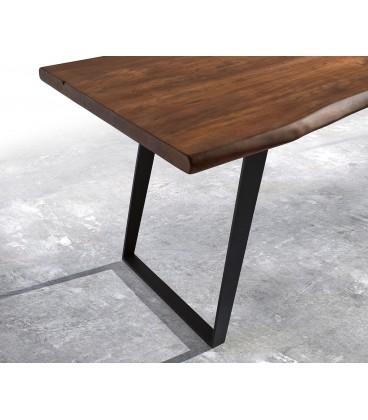 Jídelní stůl Live 180x90 cm Akácie Hnědá Deska 5.5 cm Nohy Šikmé Černé
