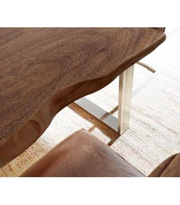 Jídelní stůl Live 180x90 cm Akácie Hnědá Deska 5.5 cm Nohy Úzké