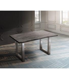Jídelní Stůl Live 140x90 cm Akácie Platina Deska 5 cm Nohy Široké