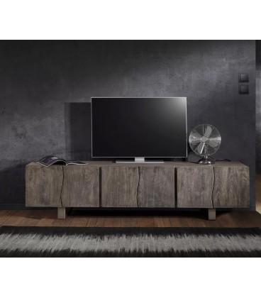 Televizní stolek Live 220 cm Akácie Platina 6 Dvířek