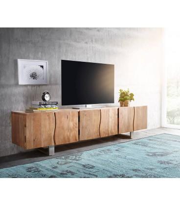 Televizní stolek Live 220 cm Akácie Přírodní 6 Dvířek