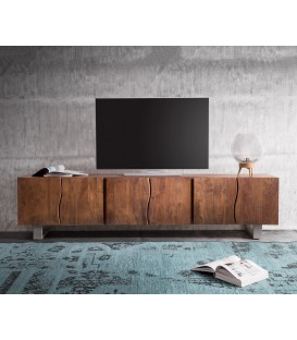 Televizní stolek Live 220 cm Akácie Hnědá 6 Dvířek