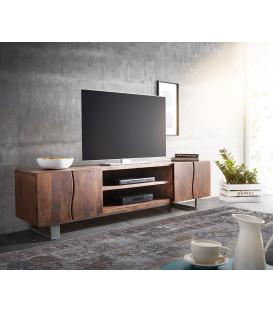 Televizní stolek Live 200 cm Akácie Hnědá 4 Dvířka