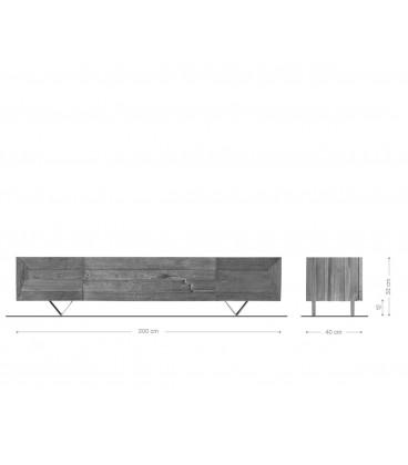 Televizní Stolek Viat W 200 cm Exotické Dřevo