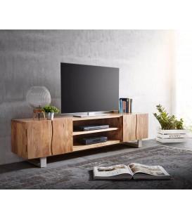 Televizní stolek Live 200 cm Akácie Přírodní 4 Dvířka