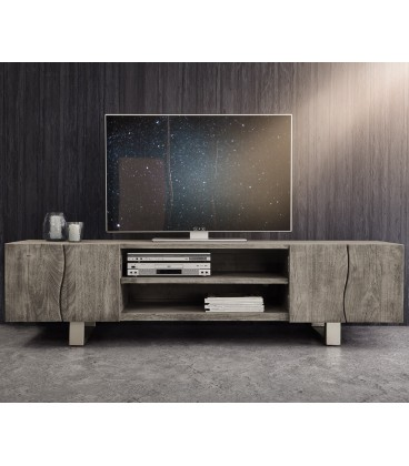 Televizní stolek Live 200 cm Akácie Platina 4 Dvířka