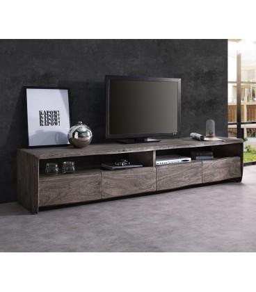 Televizní stolek Live 230 cm Akácie Platina 4 Šuplíky