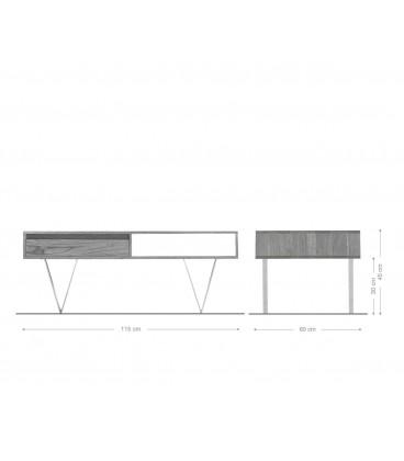 Konferenční stolek Kamenina 115x60 cm Akácie Přírodní