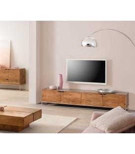 Televizní Stolek Toca 200 cm Akácie Přírodní 4 Dvířka