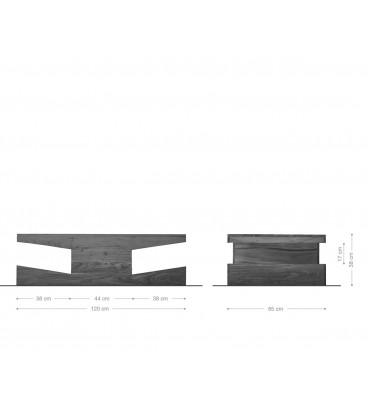 Konferenční Stolek Toca 121x65 cm Akácie Přírodní Masiv