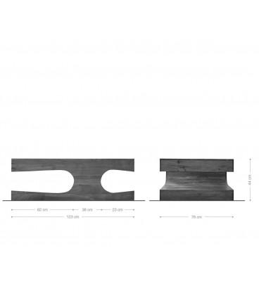Konferenční Stolek Toca 123x76 cm Akácie Přírodní Masiv