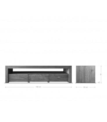 Televizní Stolek Bahan 185x55 cm Teak Přírodní