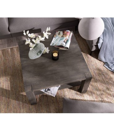 Konferenční stolek Vida 80x80 cm Akácie Platina 1 Foch Masiv