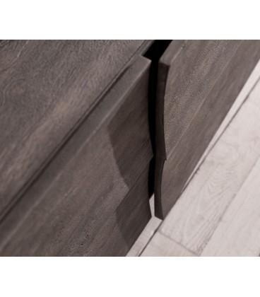 Komoda Design 177 cm Akácie Platina 2 Dvířka 2 Šuplíky