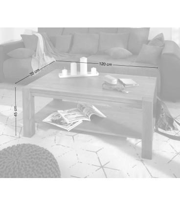 Konferenční stolek Vida 120x70 cm Akácie Hnědá Masiv