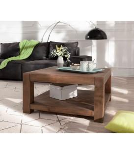 Konferenční stolek Vida 80x80 cm Akácie Hnědá 1 Foch