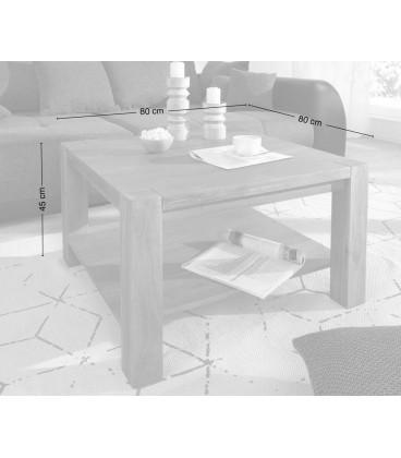 Konferenční stolek Vida 80x80 cm Akácie Hnědá 1 Foch Masiv