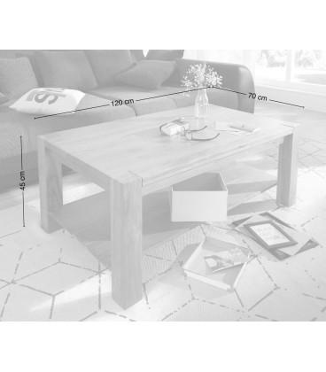 Konferenční stolek Vida 120x70 cm Akácie Přírodní Masiv