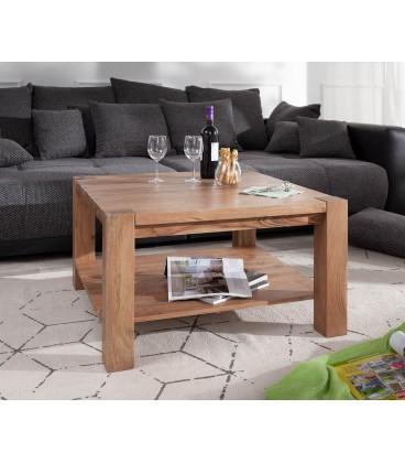 Konferenční stolek Vida 80x80 cm Akácie Přírodní 1 Foch Masiv