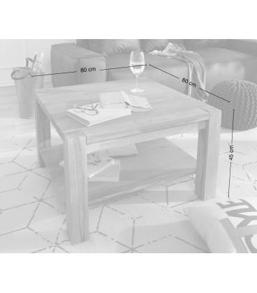Konferenční stolek Vida 80x80 cm Akácie Sheesham 1 Foch Masiv