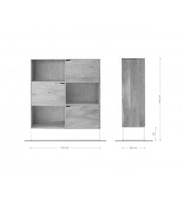 Skříňka Toca 140 cm Akácie Přírodní 6 Fochů