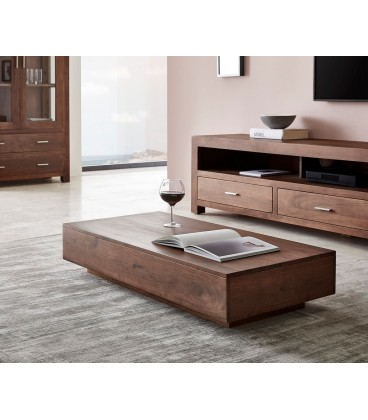 Konferenční stolek Vida 115x55 cm Akácie Hnědá