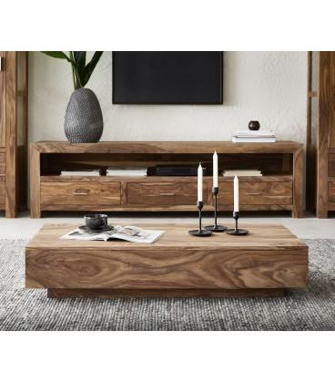 Konferenční stolek Vida 115x55 cm Sheesham Přírodní
