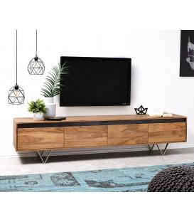 Televizní stolek Kamenina 200 cm Akácie Přírodní 4 Šuplíky