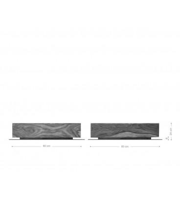 Konferenční stolek Vida 80x80 cm Akácie Hnědá