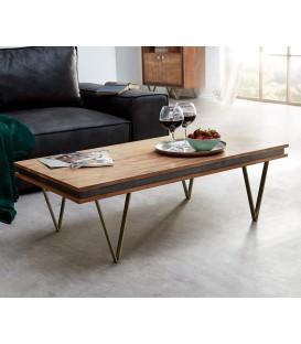 Konferenční stolek Kamenina 117x60 cm Akácie Přírodní