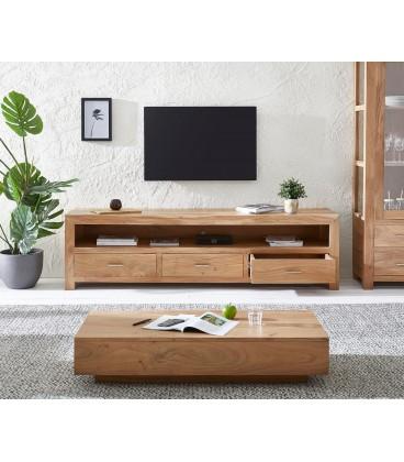 Televizní Stolek Vida 200 cm Akácie Přírodní 3 Šuplíky