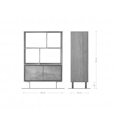 Skříňka Juwe 88 cm Akácie Přírodní Kamenná Dýha