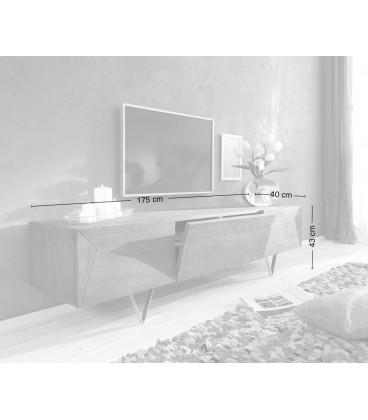 Televizní Stolek Design W 175 cm Akácie Hnědá 3 Dvířka