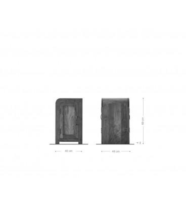 Kontejner Psacího Stolu Wall 40x48 cm Akácie Přírodní
