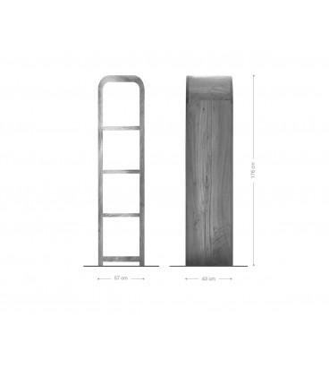 Regál Wall 176 cm Akácie Přírodní