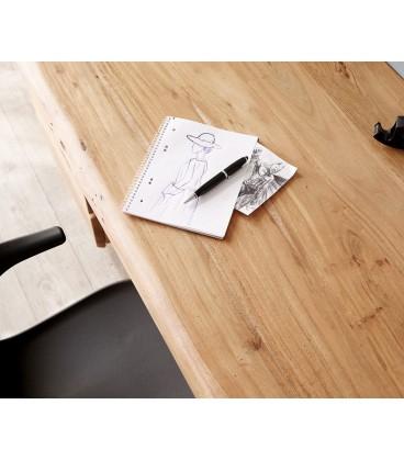 Psací Stůl Live 147x62 cm Akácie Přírodní 3 Šuplíky