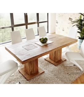 Jídelní Stůl Block 200x100 Akácie Přírodní Nohy Masiv