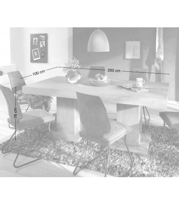 Jídelní Stůl Vida 200x100 Akácie Hnědá Nohy Masiv