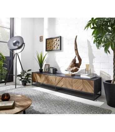 Televizní Stolek Fam 200 cm Exotické Dřevo Rybí Kost