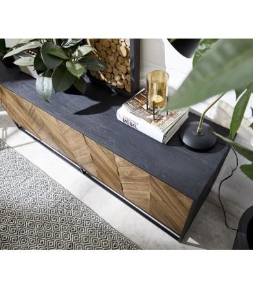 Komoda Fam 175 cm Exotické Dřevo Rybí Kost