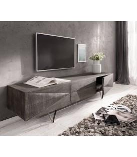 Televizní Stolek Viat X 175 cm Akácie Platina 3 Dvířka