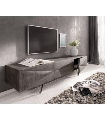 Televizní Stolek Design WA 175 cm Akácie Platina 3 Dvířka