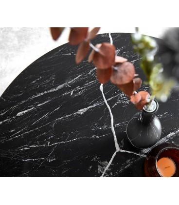 Konferenční Stolek Lumin 80x80 cm Černý Mramor