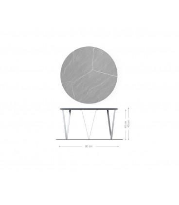 Konferenční Stolek Lumin 80x80 cm Bílý Mramor