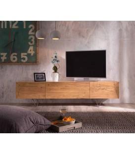 Televizní Stolek Viat W 175 cm Akácie Přírodní 3 Dvířka