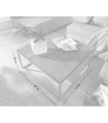 Konferenční Stolek Tamus 80x80 Akácie Platina Nerez