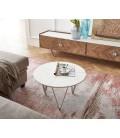 Konferenční Stolek Lumin Macino 60x60 cm Bílý Mramor