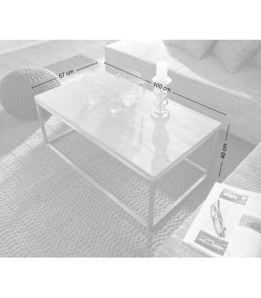 Konferenční Stolek Tamus 100x57 Sheesham Přírodní Industrial