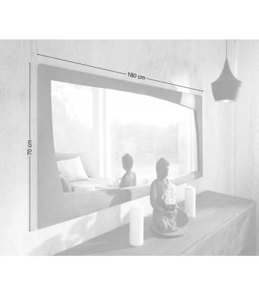 Zrcadlo Design 160x70 cm Akácie Hnědá